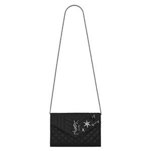 [스페셜오더]SAINT LAURENT-471501 생 로랑 블랙 엠블리시 모노그램 엔빌로프 체인백