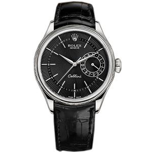 [스페셜오더]ROLEX-롤렉스 첼리니 데이트 스틸 블랙다이얼 시계39mm